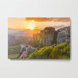 Meteora, Greece. Metal Print