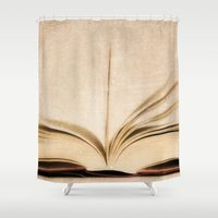kindle Shower Curtains featuring Silent Reading II by Rose Etiennette