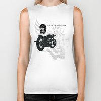 cafe racer Biker Tanks featuring Rise of the Cafe Racer by RiseoftheCafeRacer