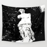 venus Wall Tapestries featuring Venus by osile ignacio