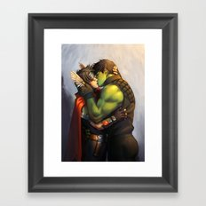 William and Theodore 10 Framed Art Print