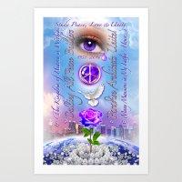 Study Peace, Love & Unity Art Print