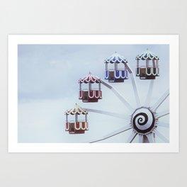 Amusement Ride Art Print