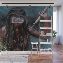 Michonne And Her Sword - The Walking Dead Wall Mural