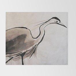 Japanese Crane #society6 #decor #buyart Throw Blanket
