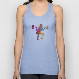 Body buiding woman isolated Unisex Tank Top