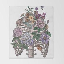 flowering ribs Throw Blanket