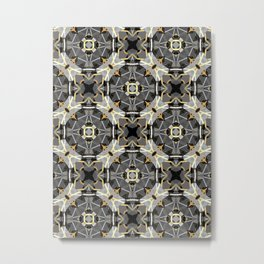 Gray and Gold Abstract Geometric Part IX. Metal Print