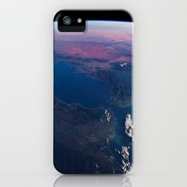 Earth orbit view ISS: Spain, Morocco iPhone Case
