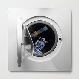 Into the washing mashine Metal Print
