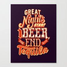 Great nights Canvas Print