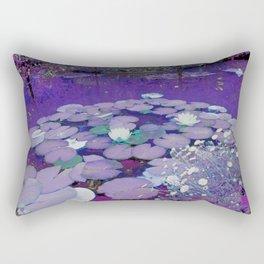 Purple Lake Dreaming Rectangular Pillow