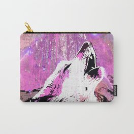 WOLF PINK MOON SHOOTING STARS Carry-All Pouch