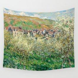 1879-Claude Monet-Flowering Plum Trees-64 x 81 Wall Tapestry