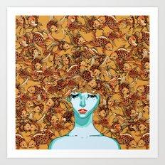 Head up, love Art Print