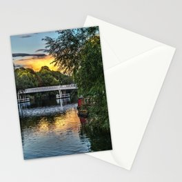 Above The Toll Bridge At Pangbourne Stationery Cards