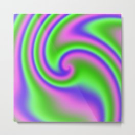 Wild 'n Reckless Ribbon Candy Fractal Metal Print