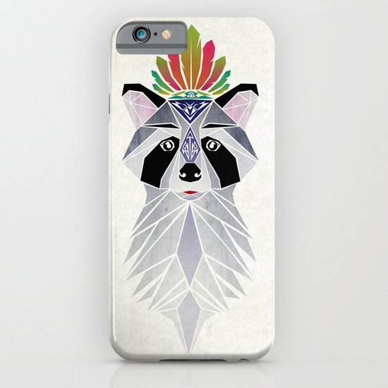 raccoon spirit iPhone & iPod Case