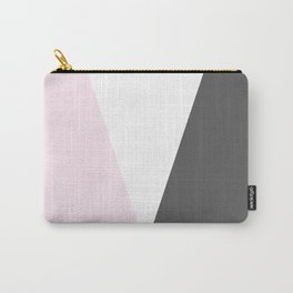 pink and gray geometric Carry-All Pouch