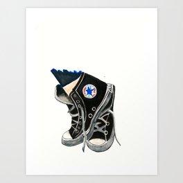 Black High Top Converse Art Print