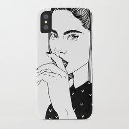 Inktober 01_2016 iPhone Case