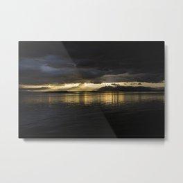 Vatnajökull horizon in Iceland Metal Print