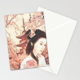 Asian Rose Stationery Cards