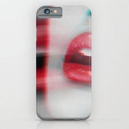 Sexy red lipstick girls iPhone Case