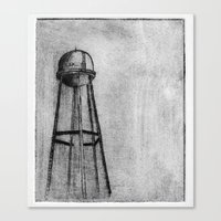 dark tower Canvas Prints featuring DARK TOWER by Alexander Lazzari