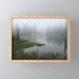 Foggy Tree Reflection Lake Framed Mini Art Print