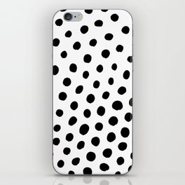Black and White Dots iPhone Skin