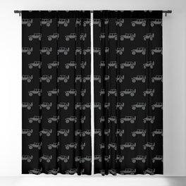 Off Road 4x4 Silhouette Blackout Curtain
