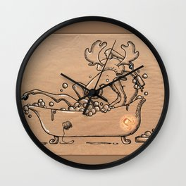 narcissist elk Wall Clock
