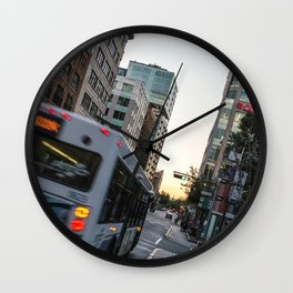 street - Quebec Wall Clock