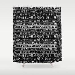 Egyptian Hieroglyphics // Black Shower Curtain