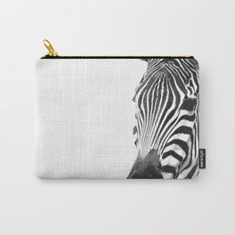 Black and white zebra illustration Carry-All Pouch