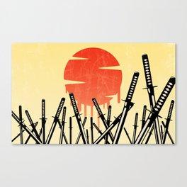Katana Junkyard Canvas Print