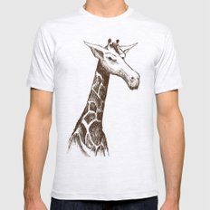 Giraffe Mens Fitted Tee SMALL Ash Grey