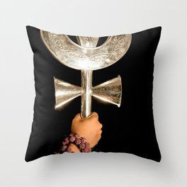 god shiv tirsul Throw Pillow