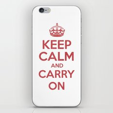 keep Calm and Carry On - Red/White Book iPhone & iPod Skin
