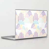 memphis Laptop & iPad Skins featuring Memphis pastel by Flor Tate