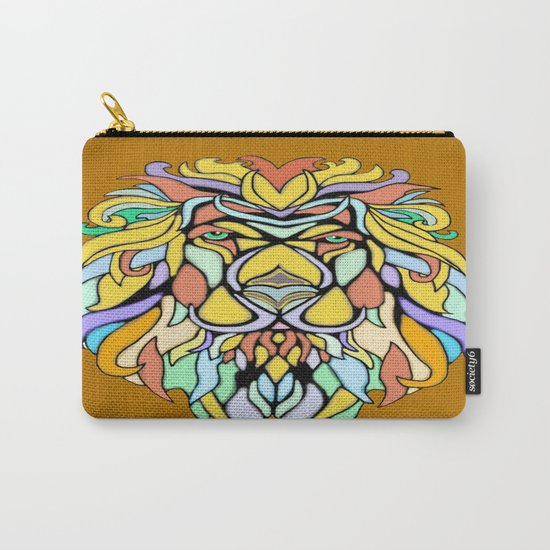 Metallic Lion Carry-All Pouch