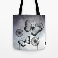 butterflies Tote Bags featuring Butterflies by LouJah