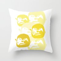 one line Throw Pillows featuring One line by Stefanmp