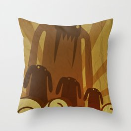 Monsters are coming! Throw Pillow