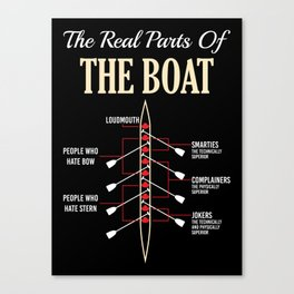 The Real Parts Of The Boat - Funny Boating Gifts Canvas Print