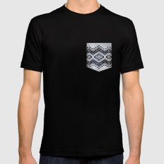 wall n2 LARGE Mens Fitted Tee Black