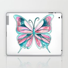 Pink and Blue Watercolor Butterfly Laptop & iPad Skin