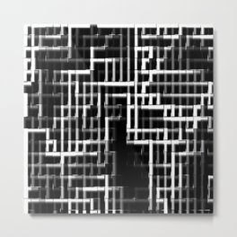 Pipes monochrome Metal Print