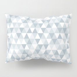 shades of ice gray triangles pattern Pillow Sham